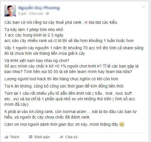 Liệu game thủ Việt đã hiểu đúng về vấn nạn cày thuê xếp hạng trong game? 1
